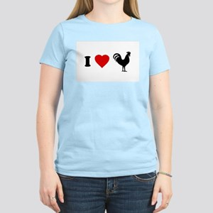 I Love [Heart] Cock Women's Pink T-Shirt